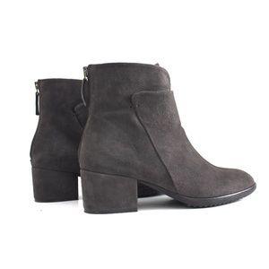 Sesto Meucci Shoes - Sesto Meucci Gray Suede Layered Vamp Bootie